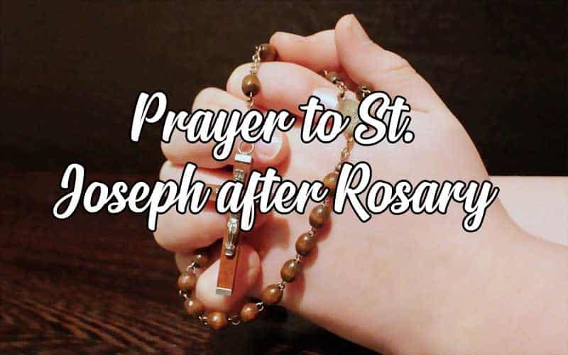 st joseph prayer after the rosary
